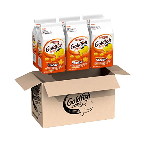 (Pepperidge Farm, Goldfish, Crackers, Cheddar, 6.6 oz, Bag, 6-count)