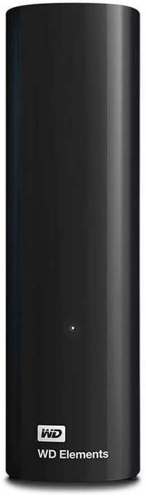 WD 6TB Elements Desktop USB 3.0 Hard Drive for Plug-and-Play Storage - WDBBKG0060HBK-AESN,Black
