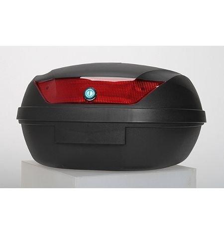 45 Liter UNIVERSAL- Topcase - Motorradkoffer für 2 Helme - matt, schwarz - für Roller und Motorrad -