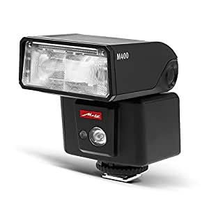 Metz 311186 - Flash para Fujifilm (ISO 100 y 105 mm, luz de vídeo LED, zoom motorizado 24-105 mm), negro