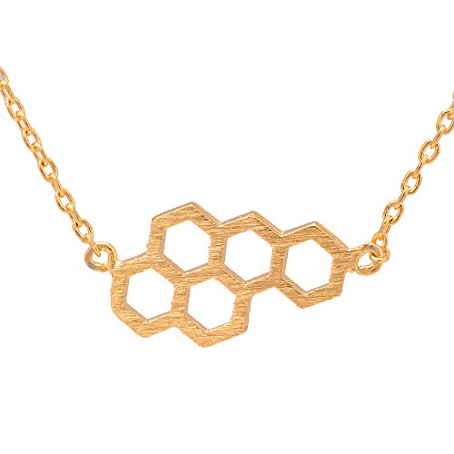 SpinningDaisy Handcrafted Brushed Beehive Necklace