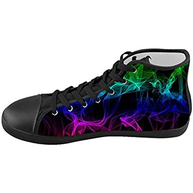 Customized Color Light Abstract Smoke Top Canvas Kids Shoes