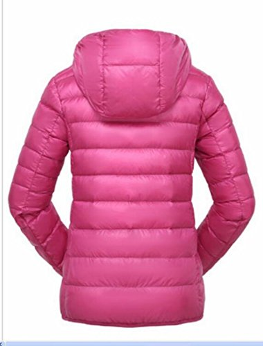 Women's Padded Coats Rose Generic Down Red Packable Hoodies Light Ultra 7aagq