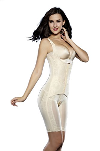 0a58164b0 Supplim Women s Body Shaper Waist Cincher Underbust Corset Bodysuit  Shapewear