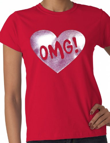 Print4U Damen T-Shirt Rot Rot M