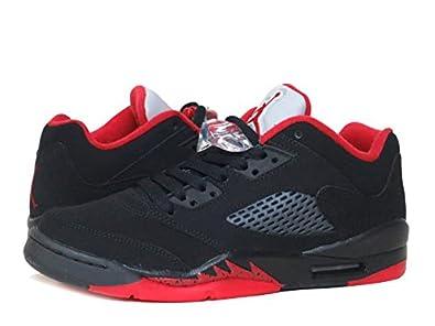 huge discount 31c35 39d22  ナイキ  AIR JORDAN 5 RETRO LOW GS BLACK GYM RED METALLIC HEMATITE