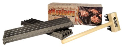 ManGrate 2G-1B-B Grill Enhancement System, Two ManGrates One Brush