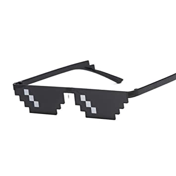 KLXQW Deal with It Gafas Mujer Hombre Thug Life Mosaico ...