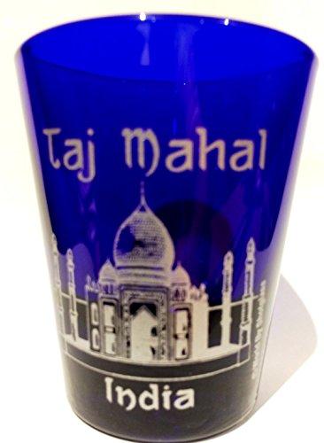 Cobalt Glass Design - India Taj Mahal Cobalt Blue Classic Design Shot Glass