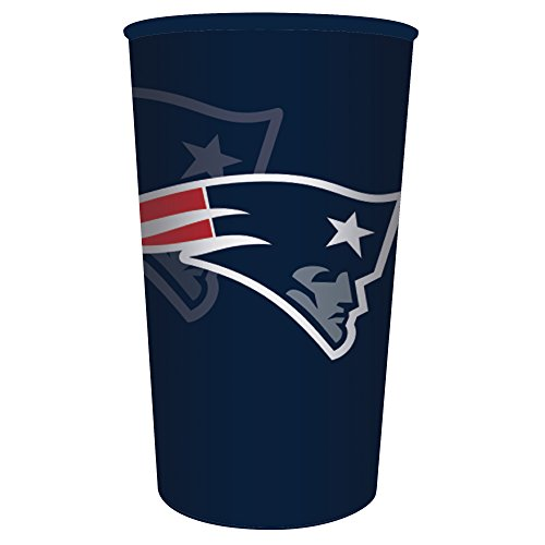 Creative Converting Officially Licensed NFL Plastic Souvenir Cups, 20-Count, 22-Ounce, New England Patriots