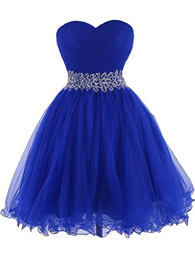 Cdress Tulle Short Homecoming Dresses Crystal Beads Junior Sweetheart Cocktail Prom Gowns