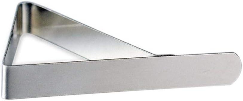 Egurs 4 Pack Tischklammern Edelstahl Tischdecke Clips Tischdeckenklammer Tischdeckenklammern Metall Silber 6 x 5,3 cm