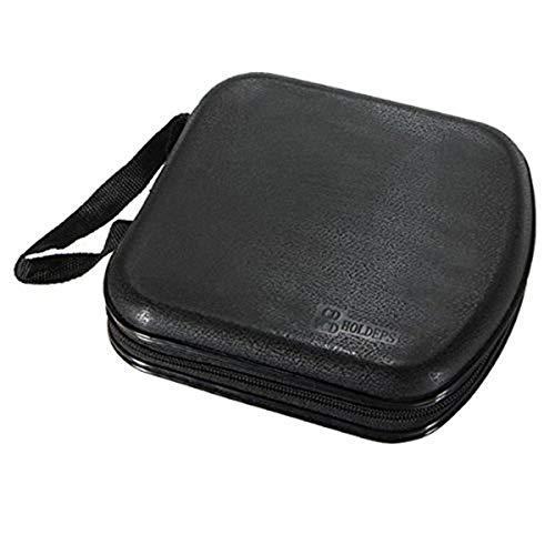 Foxnovo Portable Clear Plastic 40 CD DVD VCD Disc Holder Storage Box Bag Wallet Case Protector Organizer (Black)