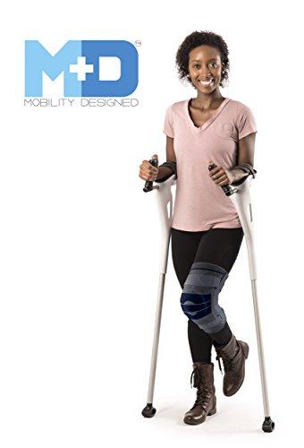 nds-free Ergonomic Crutches - White - (1 Pair) ()