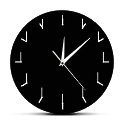 The Geeky Days Simple Modern Wall Clock Redundant Clock Round Decorative Watch Wall Clock Creative Art Decorative Silent Time Clock Wall Art Decor
