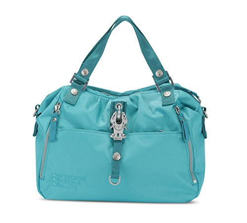 Turquesa amp; mano 34 Gina de Cotton George Lucy cm Candy Bolso w4nvnqC5