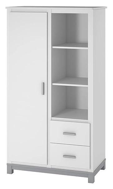 Cosco Products Leni Armoire, White/Gray