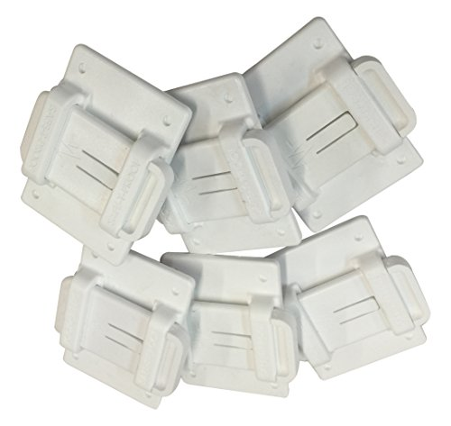 Safe-T-Proof STP-MP-201-50-00-WH Bulk 2x3 Fasteners (Pack of 50), White by Safe-T-Proof