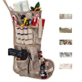 Beyond Your Thoughts 2018 New Tactical Christmas Stockings US Military with MOLLE Gear Webbing Durable Christmas Ornament for Family Decorations A-TAC-AU Camo (1 Pack)
