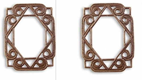- Vintaj Etruscan Layering Window 26x20mm YOU GET TWO!!, Natural Brass F028, Jewelry Making, Scrapbooking