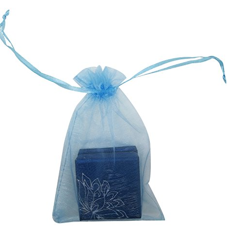 SUNGULF 100pcs Organza Pouch Bag Drawstring 4x6