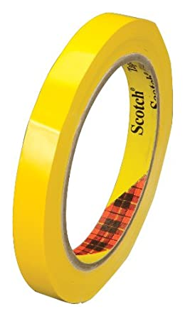 Scotch Color Coding Tape 690 Yellow, 12 mm x 66 m, Conveniently Packaged (