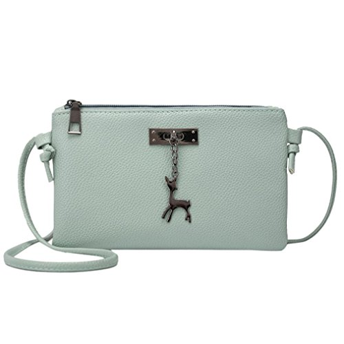 Handbags Crossbody Inkach Messenger Green Womens Coin Bag Deer Bags Purses Shoulder Leather Small pwTTAxCPqn