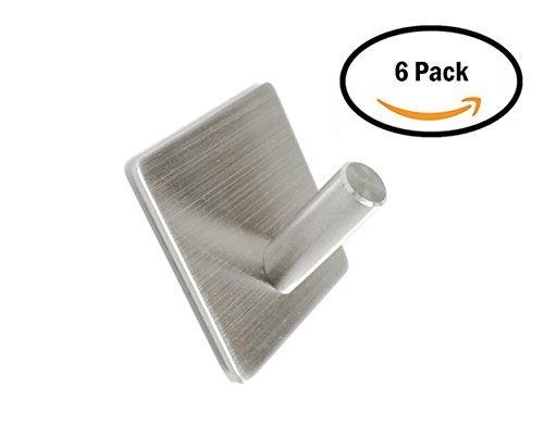 wilifdom ganchos adhesivos -6 Pack Heavy Duty 3 m ganchos de pared toalla  gancho perchero cd2a84908815