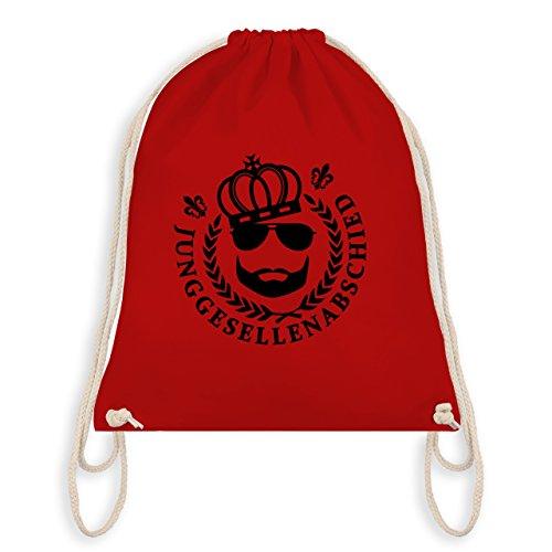 JGA Junggesellenabschied - JGA King Vollbart - Turnbeutel I Gym Bag Rot