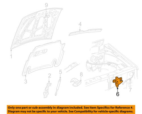 Genuine Ford F87Z-16700-AA Hood Latch Assembly Double Panel Hood