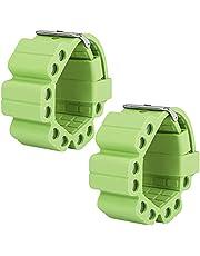 Upkey Polsgewichten, 1 paar gewicht armband, siliconen polsgewichten bandjes met 10 ijzeren pijler, 9 niveau aanpassing gewicht armband geschikt voor man, vrouw polsgewichten voor yoga running krachttraining