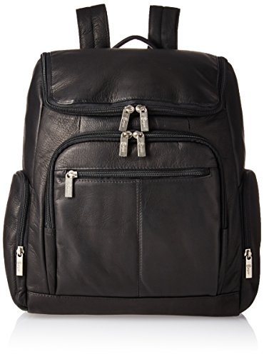 """Royce Leather Executive 13"""" Laptop Backpack Bag Handcrafted in Colombian Leather, Black One Size"""