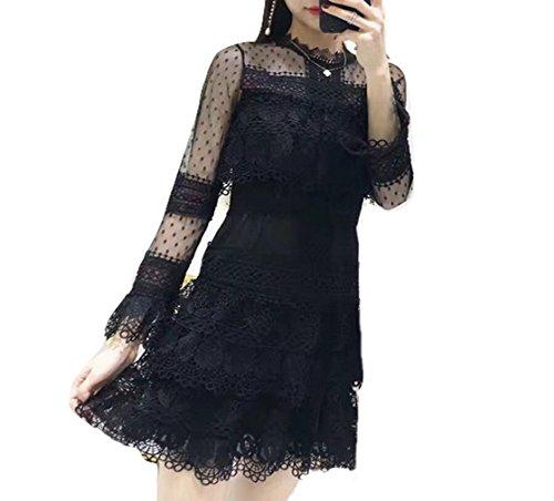 h and m black peplum dress - 3