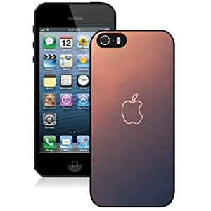 NEW Unique Custom Designed iPhone 5S Phone Case With Simple Gradient Apple Logo Outline_Black Phone Case
