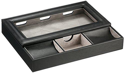 Tech Swiss Watch Storage case, Color:Black (Model: TSVL525BK)