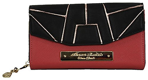 Anna Smith bronce detalle gran Matinee monedero con caja de regalo Black & Red