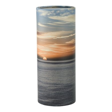 Ocean Sunset Scattering Tube, Biodegradable Urn for Spreading Ashes, Eco Urn, Adult Sized, 12.5 Inches Long by Silverlight Urns