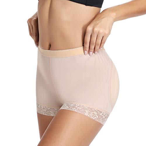 - Butt Lifter Boy Shorts for Women Butt Padded Underwear for Dresses Hip Enhancer Panties (Nude,L)