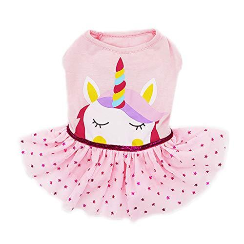 (kyeese Dog Girl Dress Unicorn Pet Apparel for Medium Dogs Wedding Dresses Tutu Dress)