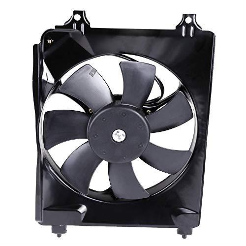 cciyu Radiator or Condenser Cooling Fan Fit for 06-11 Honda Civic