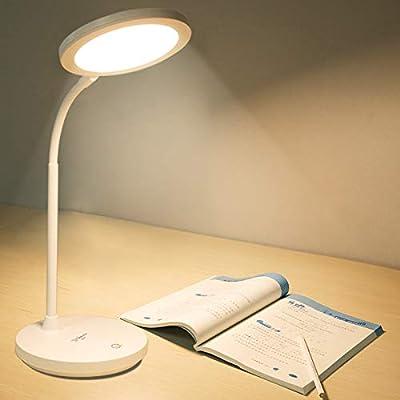 Lámpara Escritorio,Lámparas Mesa,Lámpara de mesa de estudio 8.4w 3 ...