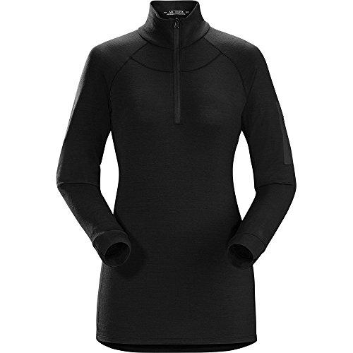 Arc'teryx Satoro AR Zip Neck Shirt LS - Women's Black Medium by Arc'teryx