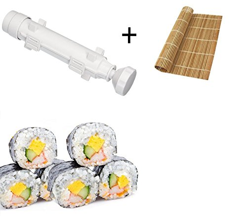Sushi Making Kit Premium Sushi Bazooka Roller and Sushi Mat, DIY Sushi Rolls Make Easy for Home By Palksky Palker Sky