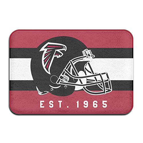 Jacoci Custom Atlanta Falcons Doormats Non Slip Heavy Floor Door Mats Rugs Bahroom Decor Standard Size 15.7 X 23.6 Inches ()