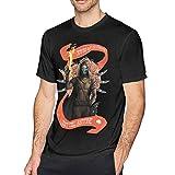 GloriaFuller Destiny 2 Forsaken Cayde Men's Cotton T-Shirts,Black,XX-Large
