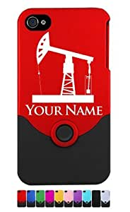 Engraved iPhone 4/4S Case/Cover - PUMPJACK, OILWELL, OIL WELL - Personalized for FREE (Send us an Amazon email after purchase with your engraving request)