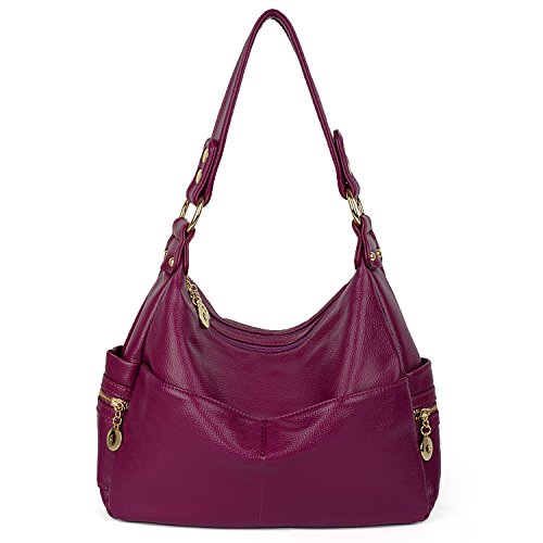 074 UTO Blue Purple Bag Hobo Style Women Bag Leather PU Tote Shoulder Handbag Body Cross qZ4Bq7