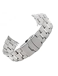 Zhuolei 22mm Solid Stainless Steel Watch band strap replacement for Casio EF-527 watch band