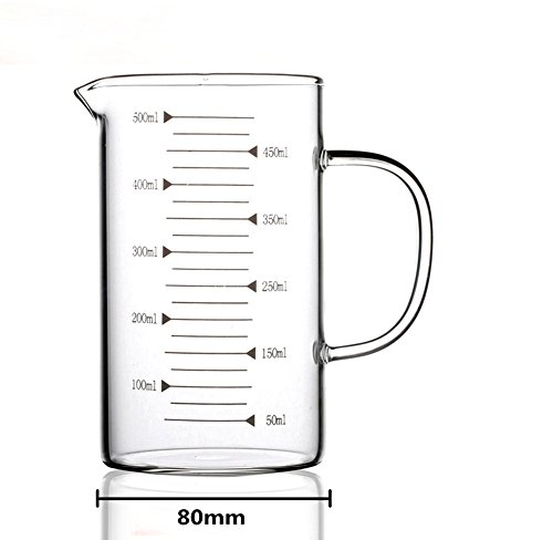 Bestevers Kitchen Laboratory 8 Oz Glass Beaker Measuring Cup (16OZ/500ML) -  ERYDGHFDGDFG