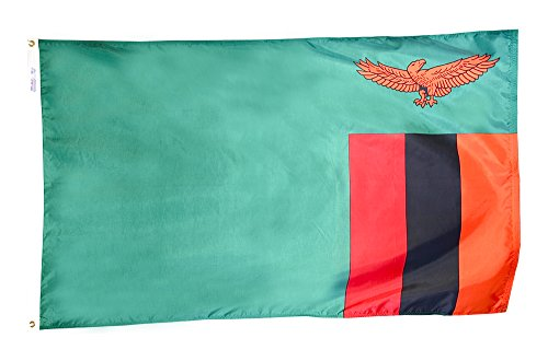 Annin Flagmakers Model 199481 Zambia Flag 3x5 ft. Nylon Sola